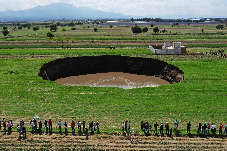 60 méter átmérőjű víznyelő keletkezett Mexikóban