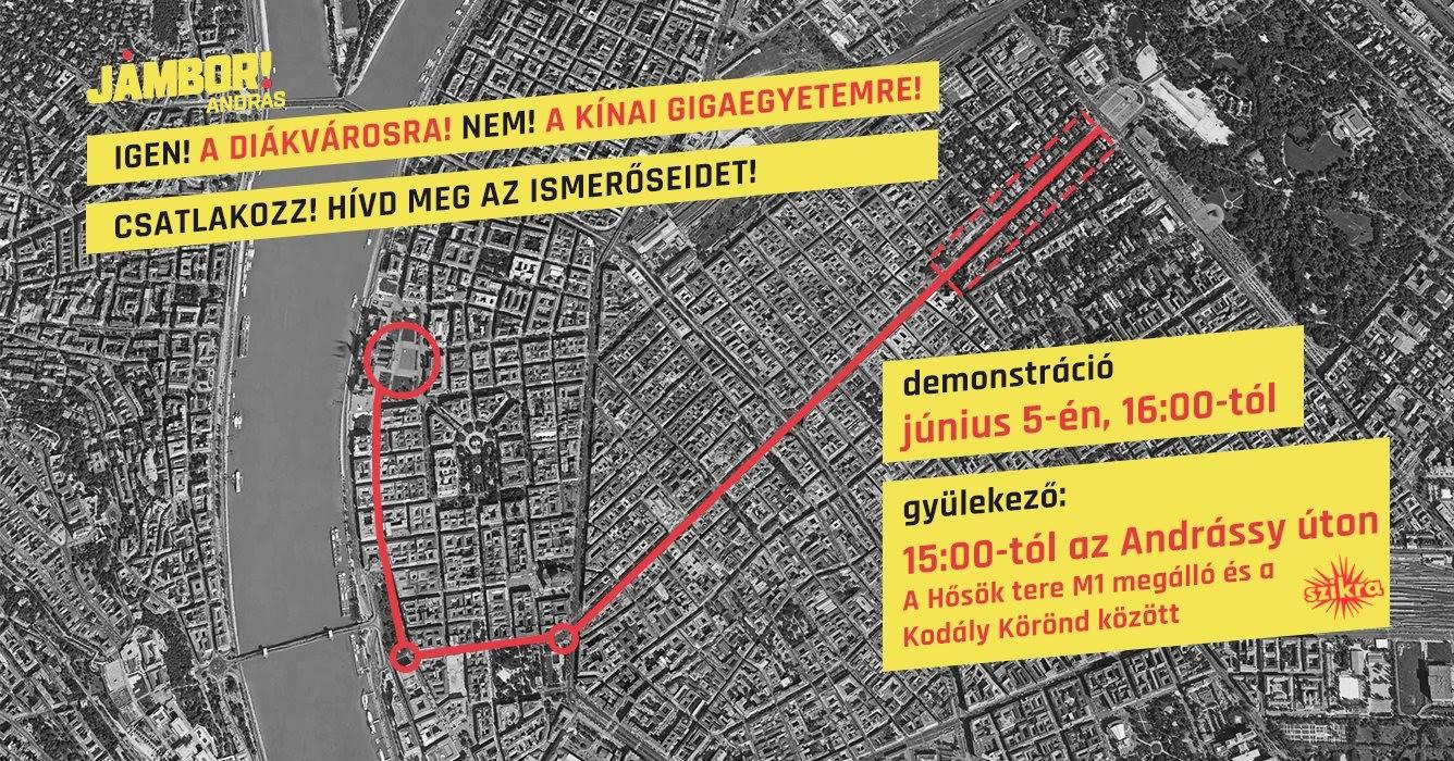 Olyan tüntetés, mint a kínai kommunista egyetem elleni szombati, még sosem volt Magyarországon