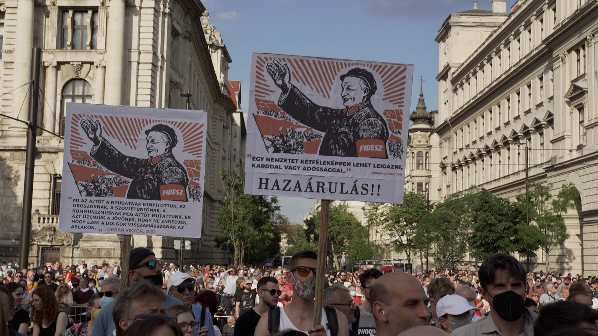 A vidéki diákokért tüntettek Budapesten a járvány utáni első demonstráción