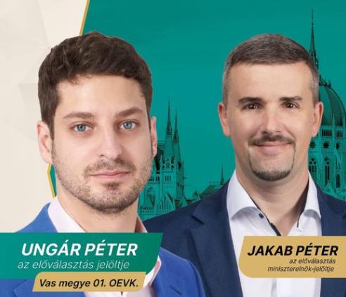 Ungár Pétert támogatja a Jobbik a szombathelyi előválasztáson