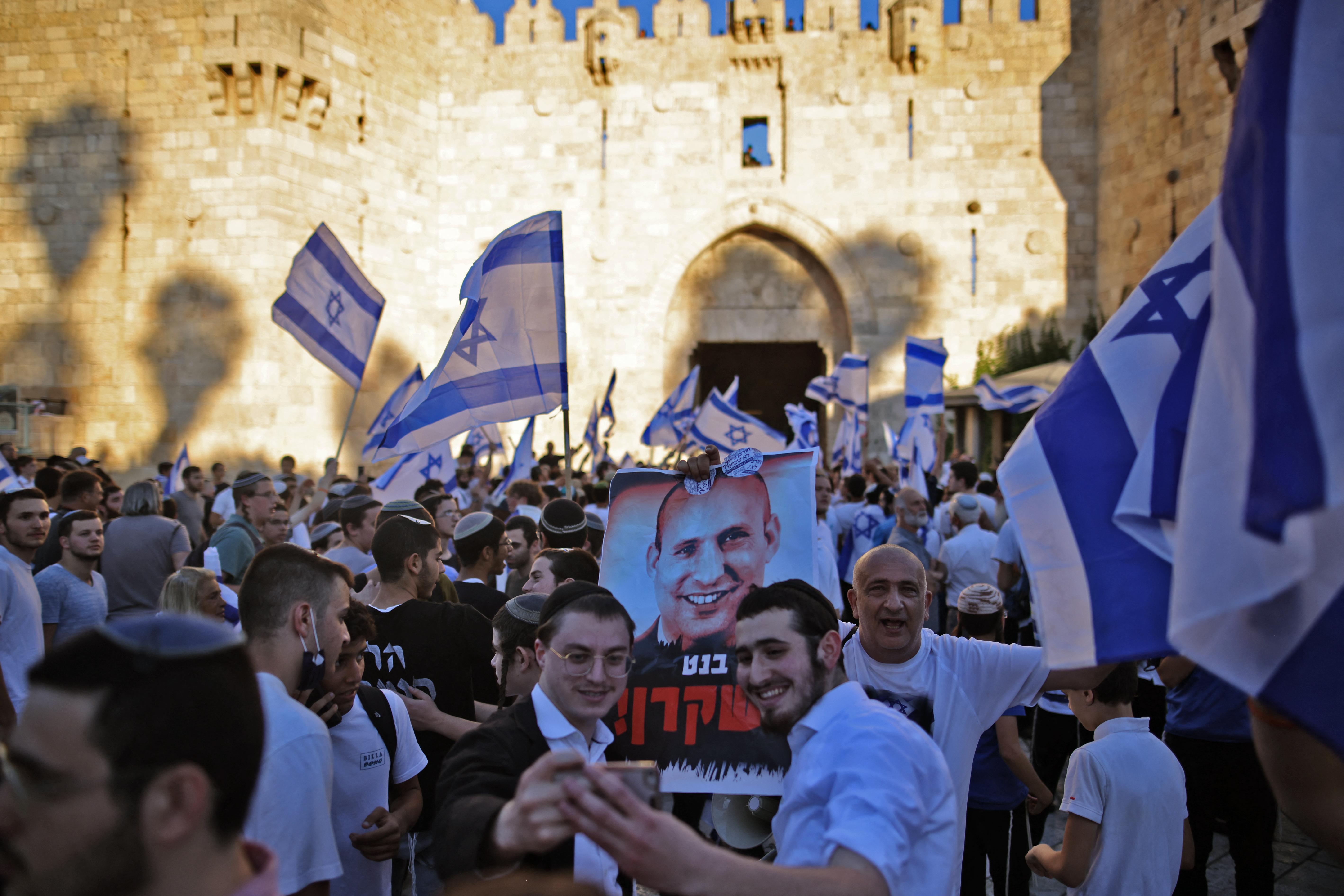 Legalább 17 palesztin megsérült az izraeli nacionalisták zászlós felvonulásán