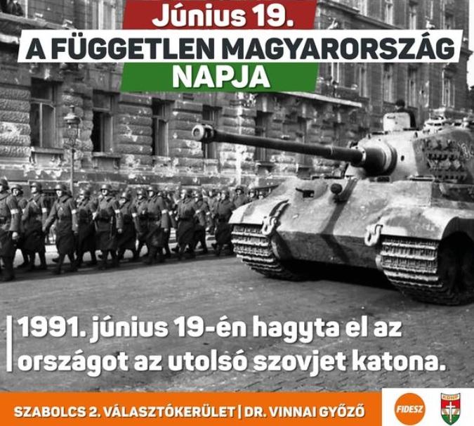 Nyilas katonák fotójával emlékezett a fideszes képviselő a szovjetek kivonulására