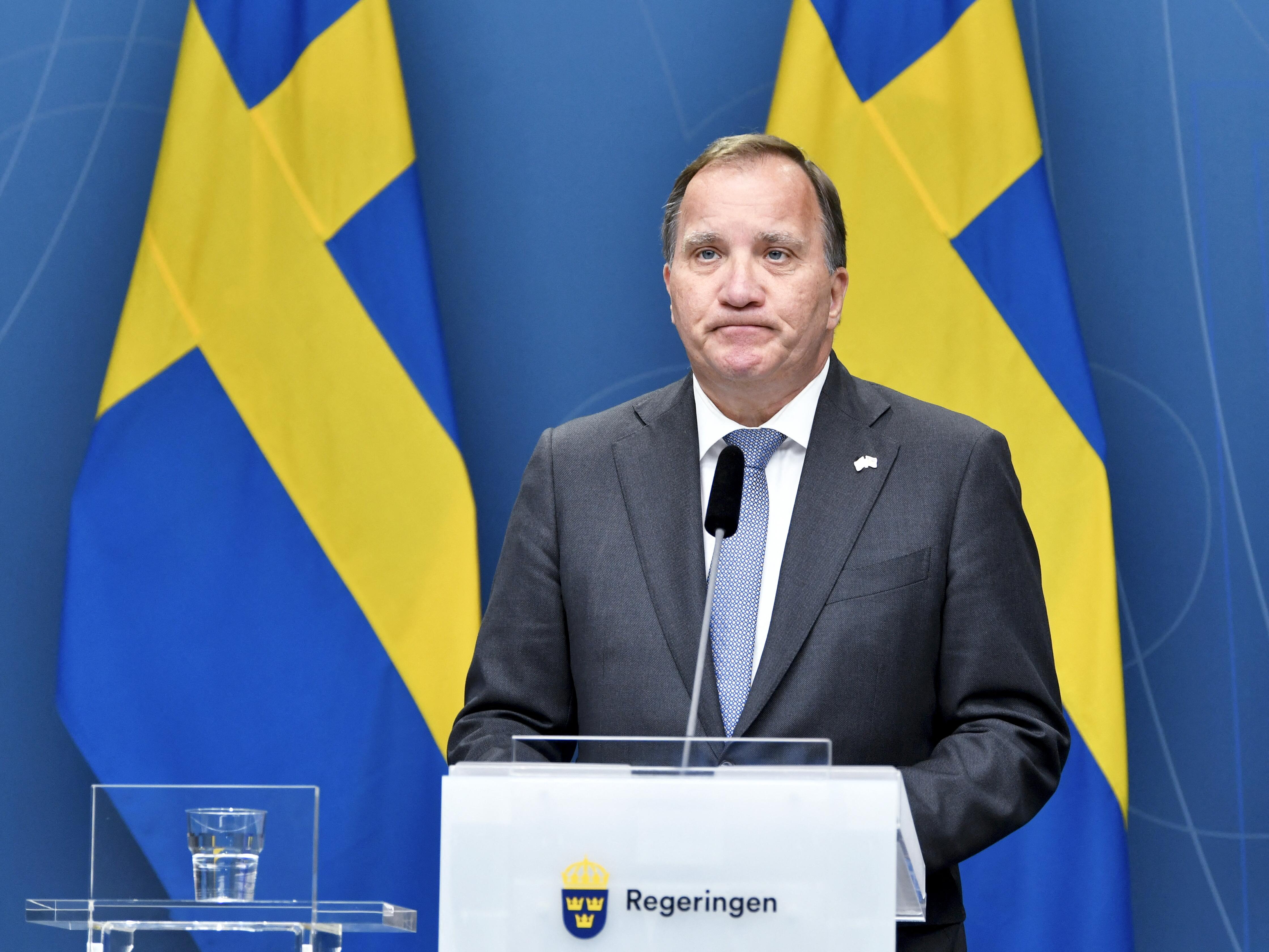 Lemondott a svéd miniszterelnök