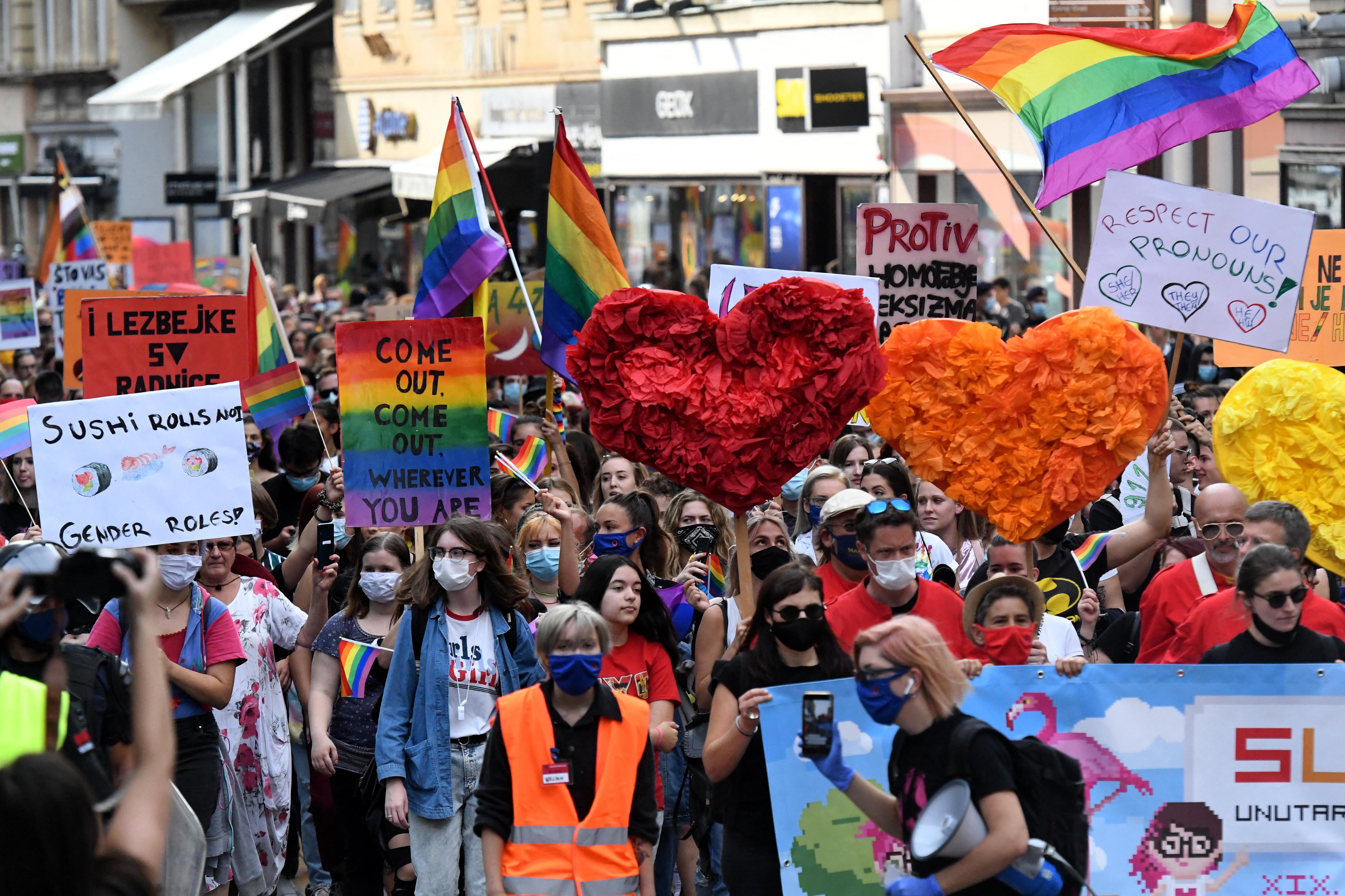 Ellentüntetők erőszakoskodtak a zágrábi Pride-on