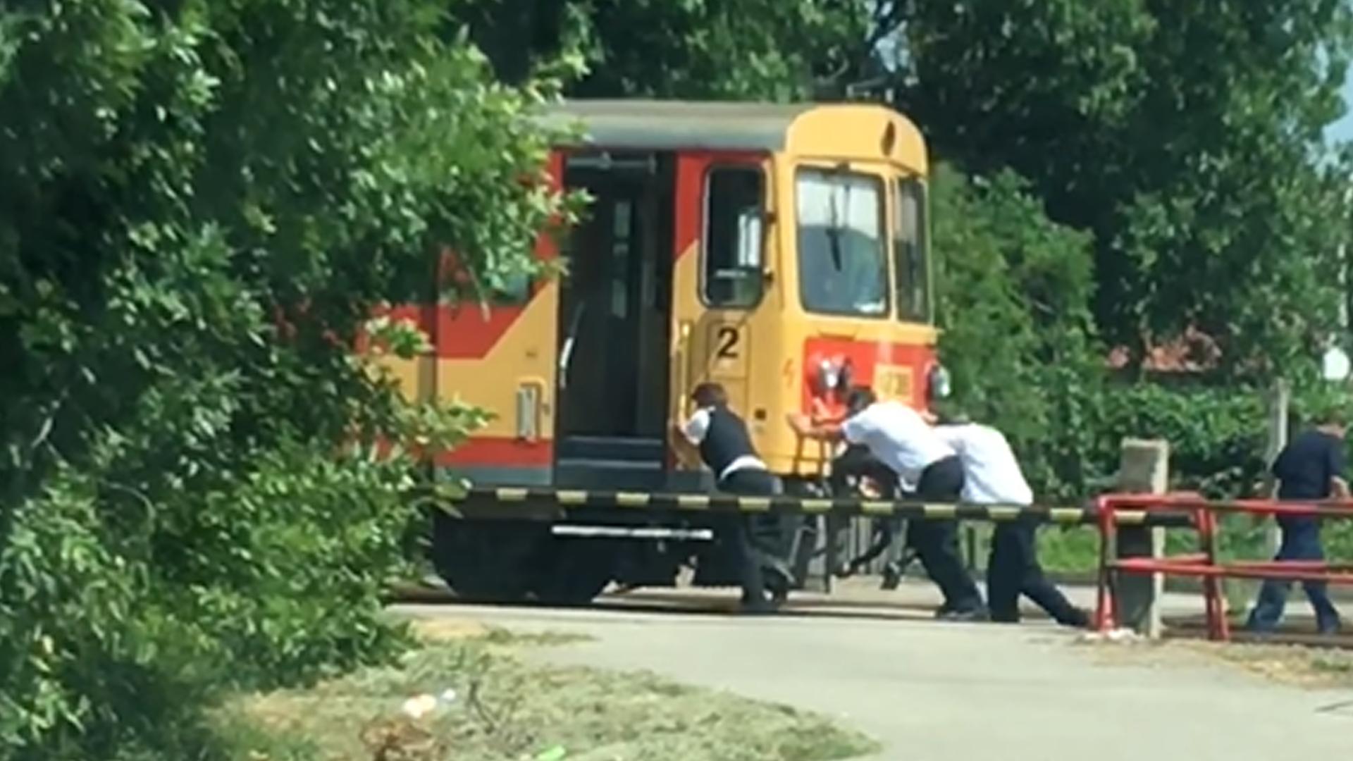 Emberhajtású vonat közlekedik Tiszalökön
