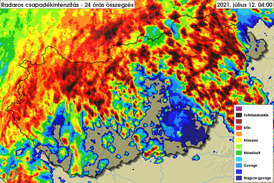A havi átlagnál több eső esett vasárnap az ország több pontján