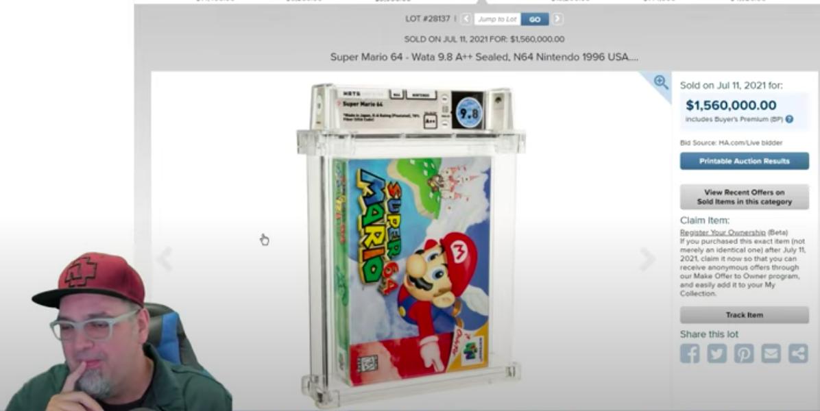 1,56 millió dollárért kelt el egy 1996-os, kibontatlan Super Mario 64-es játék