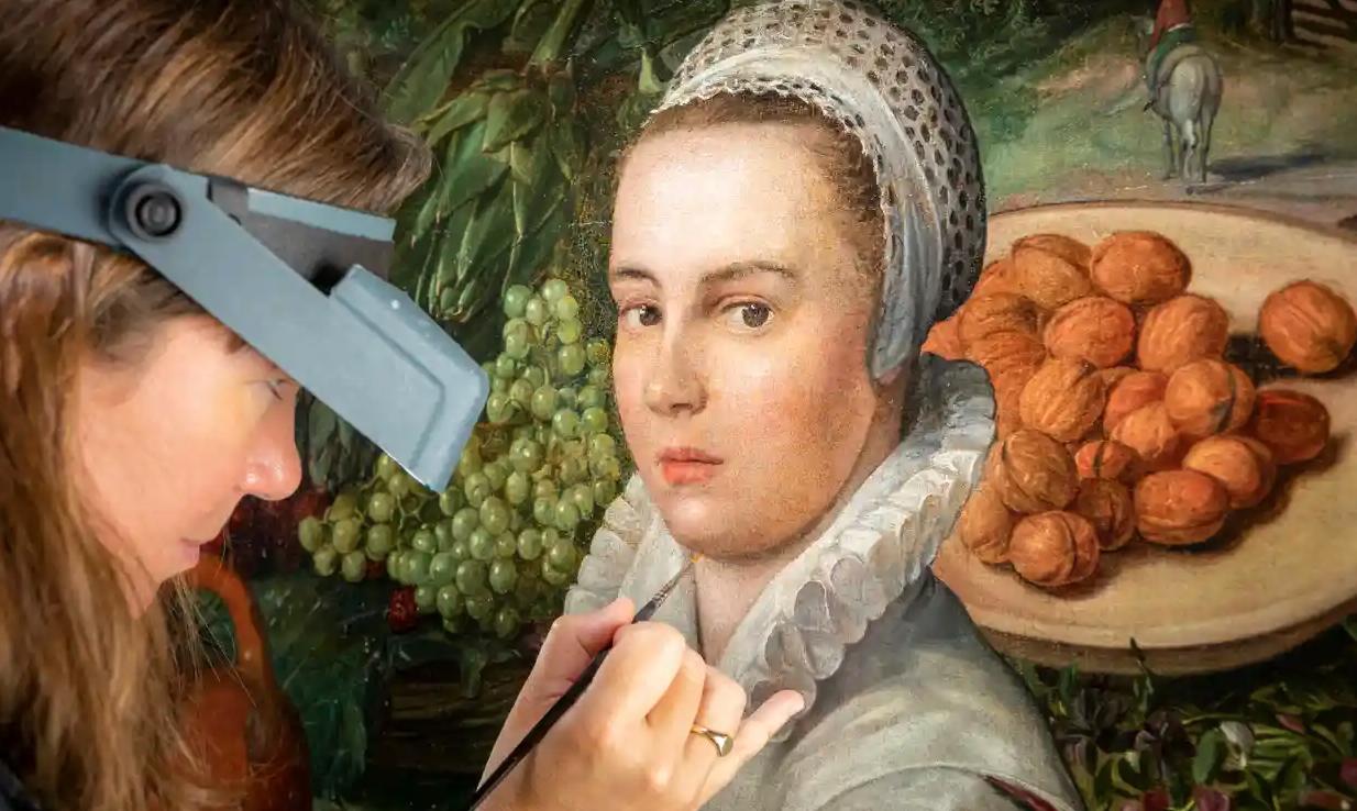 Letörölte a mosolyt egy restaurátor egy flamand festmény főszereplőjének arcáról