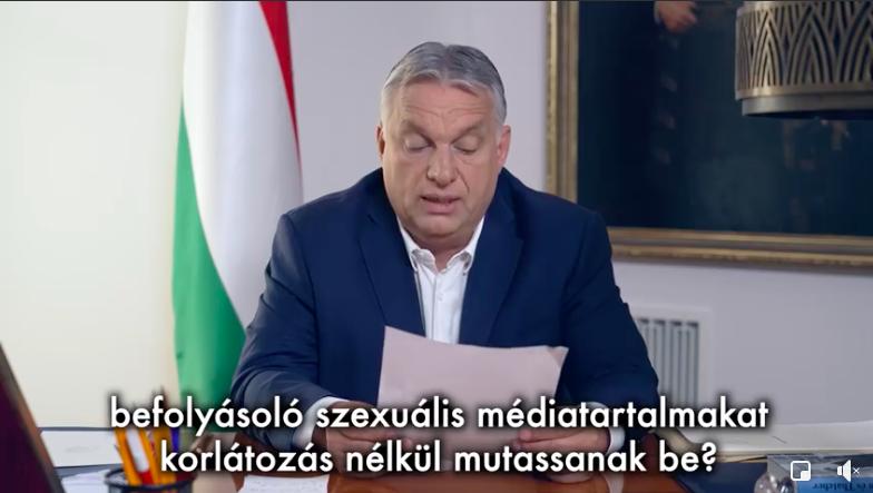 """Orbán """"gyermekvédelmi"""" népszavazást kezdeményez"""