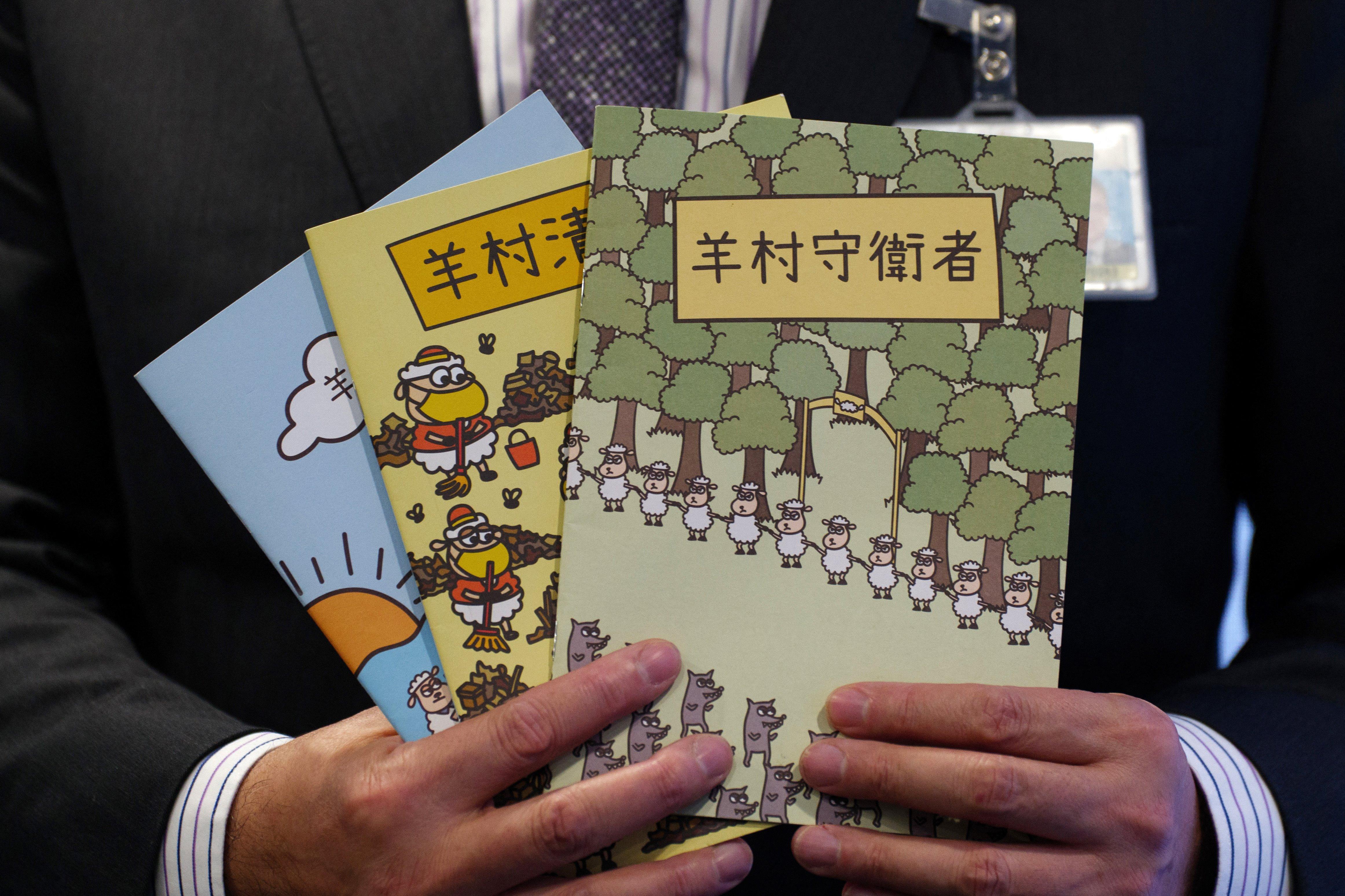 Egy bárányos mesekönyv miatt vették őrizetbe Hongkongban a beszédterapeuták szakszervezetének vezetőit