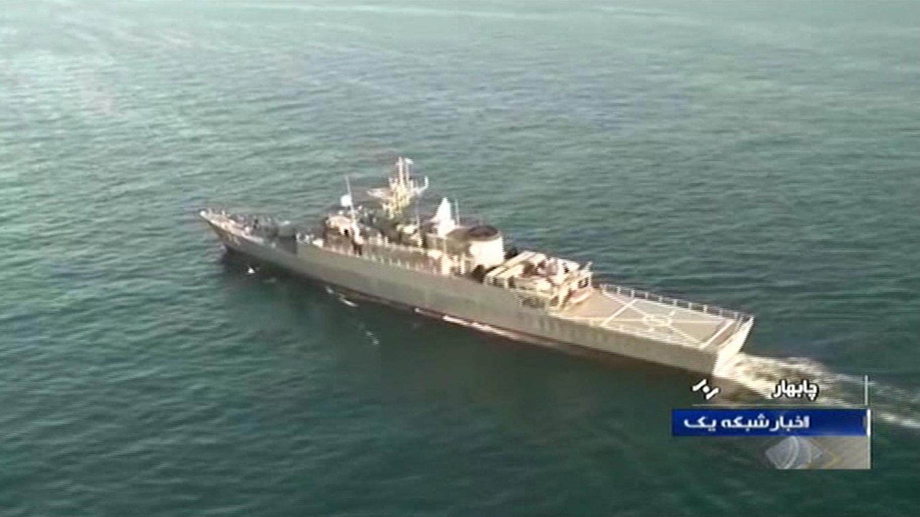 Iráni hadihajó tűnt fel a dán partoknál