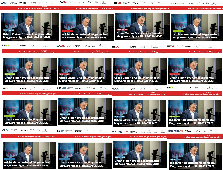 Minden megyei lapnál címlapra került Orbán Viktor kampányüzenete