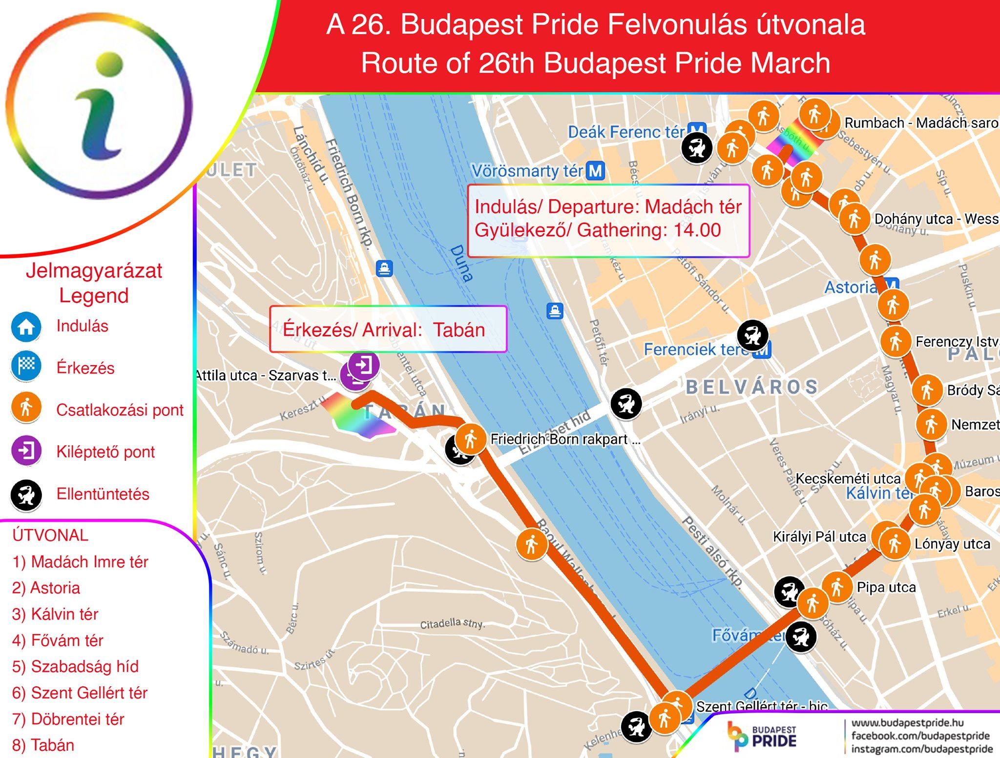 Közszolgálat: minden, amit a Pride útvonaláról és a forgalomkorlátozásokról tudni kell