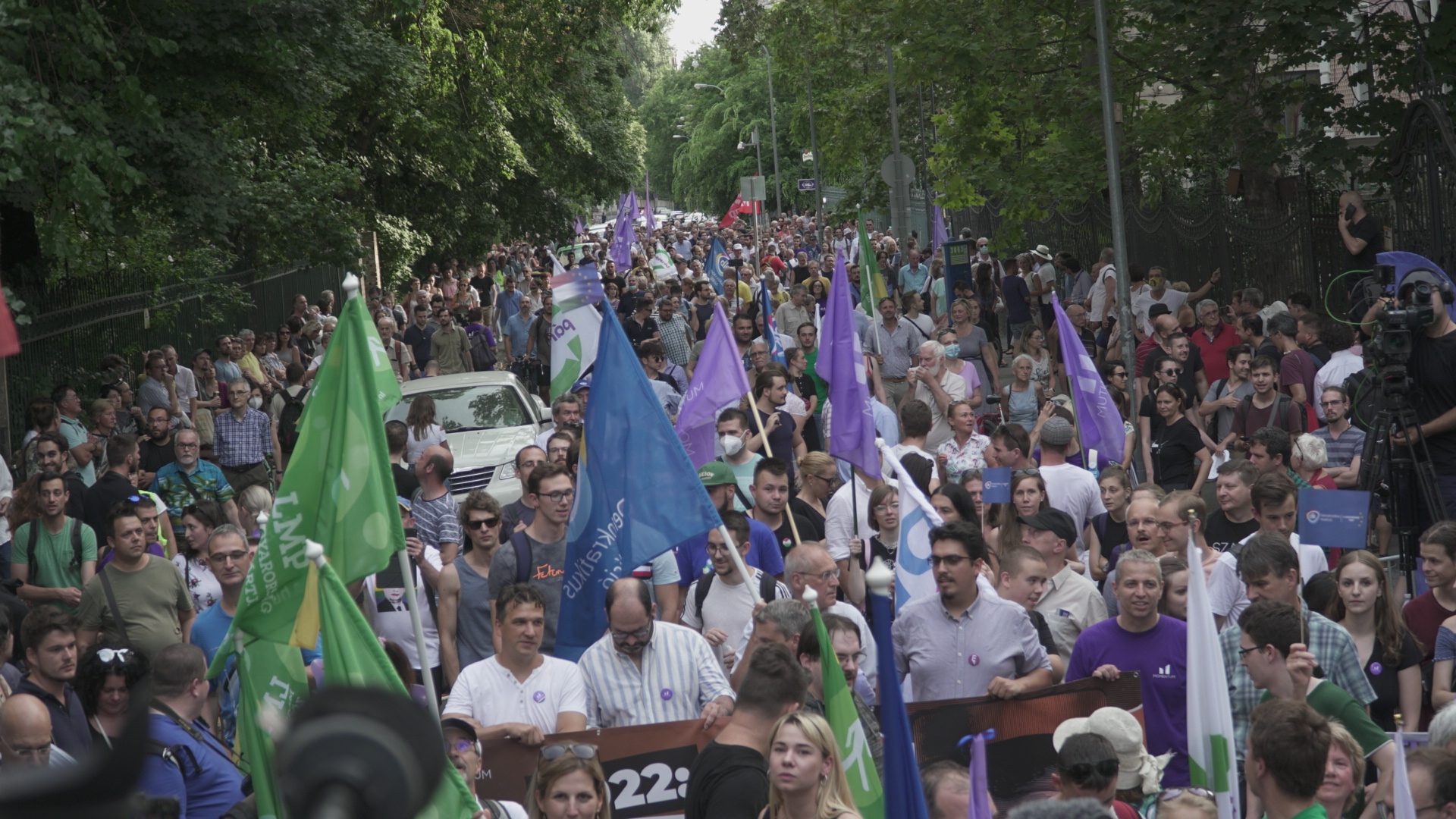 Tüntetés volt Budapesten a lehallgatási botrány miatt