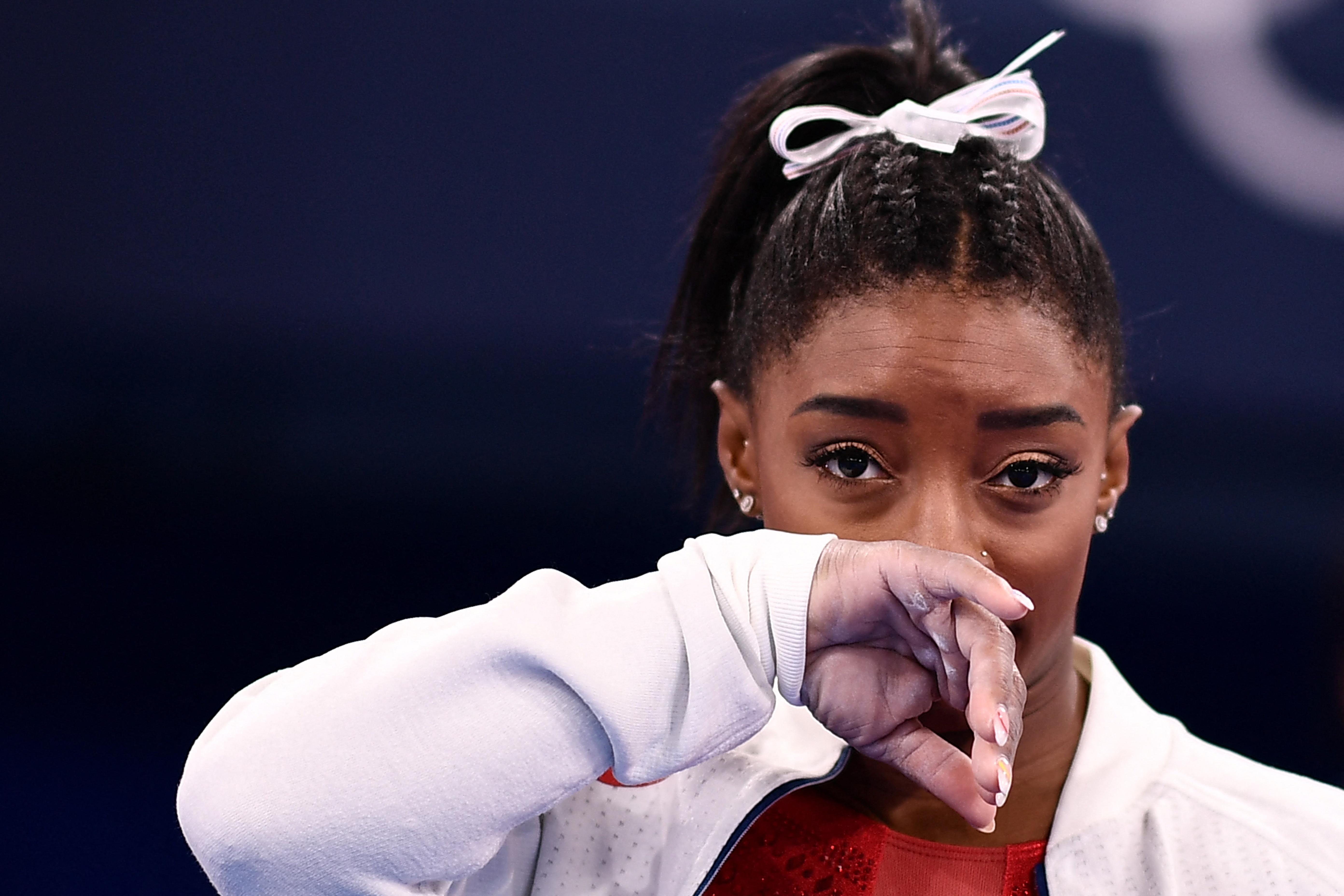 A tornasport szupersztárja, Simone Biles azért szállt ki a csapatversenyből, mert mentálisan nem bírta a nyomást