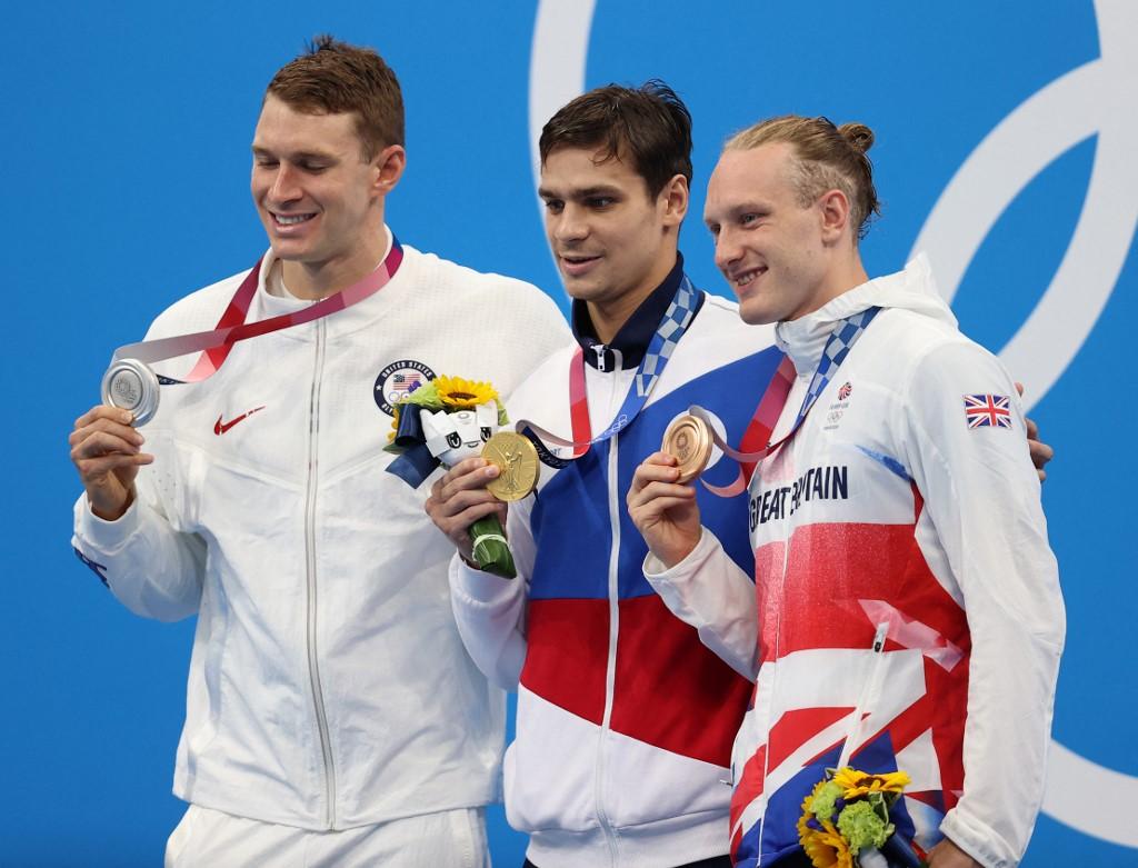 A 200 hát amerikai ezüstérmese arra célozgatott, hogy a kétszeres orosz olimpiai bajnok doppingolt