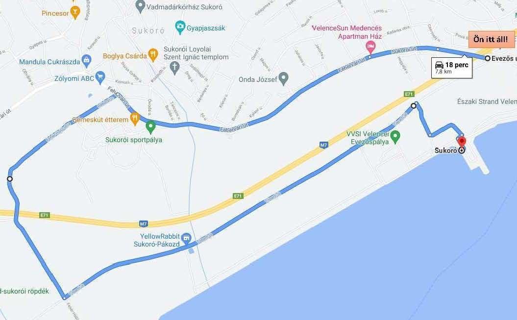 Velence berágott Sukoróra, ezért 8 kilométeres kerülővel lehet majd bejutni az EFOTT-ra