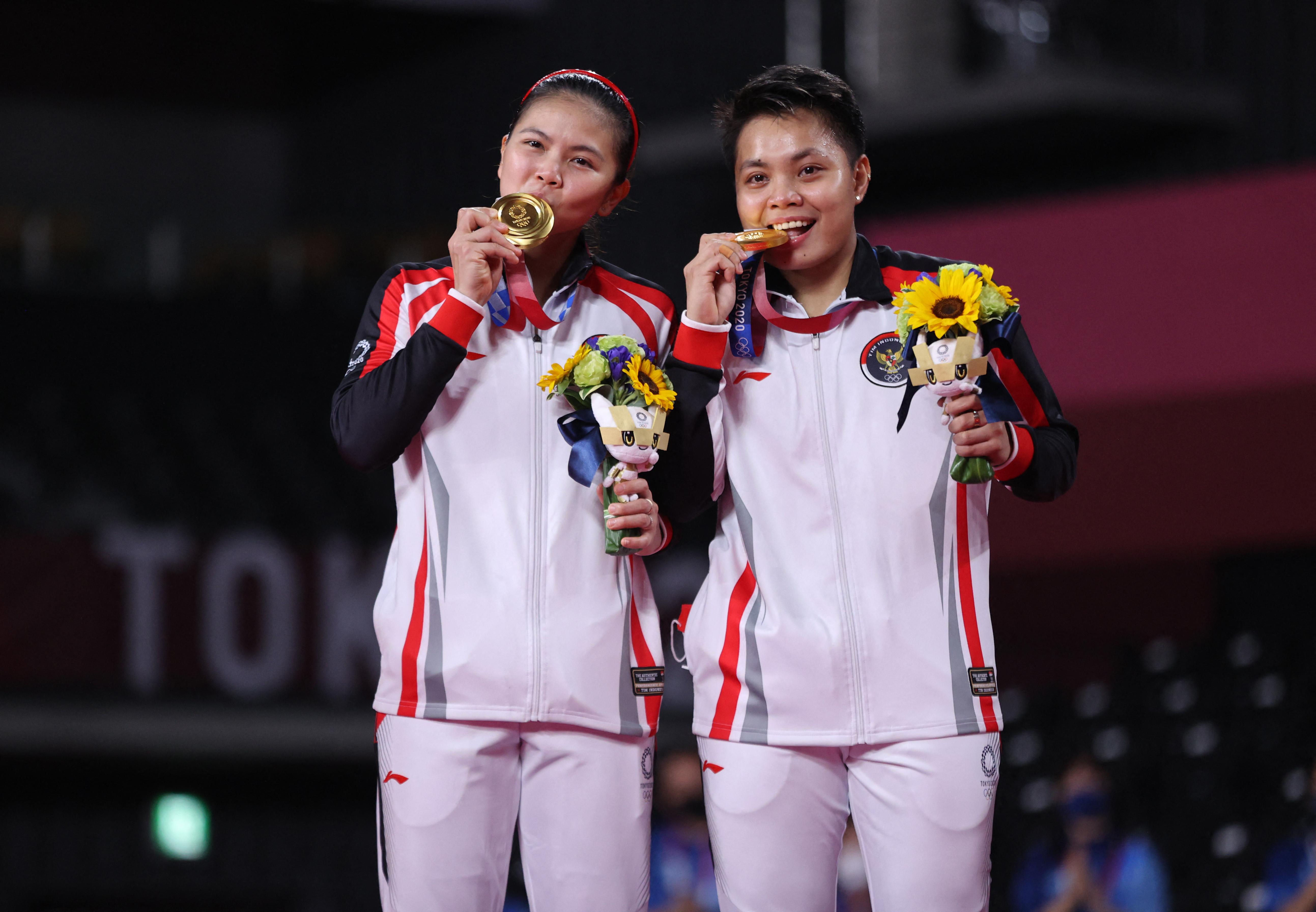Aranyat nyertek az olimpián, ezért pénzt, teheneket és házat kaptak az indonéz tollaslabdázók