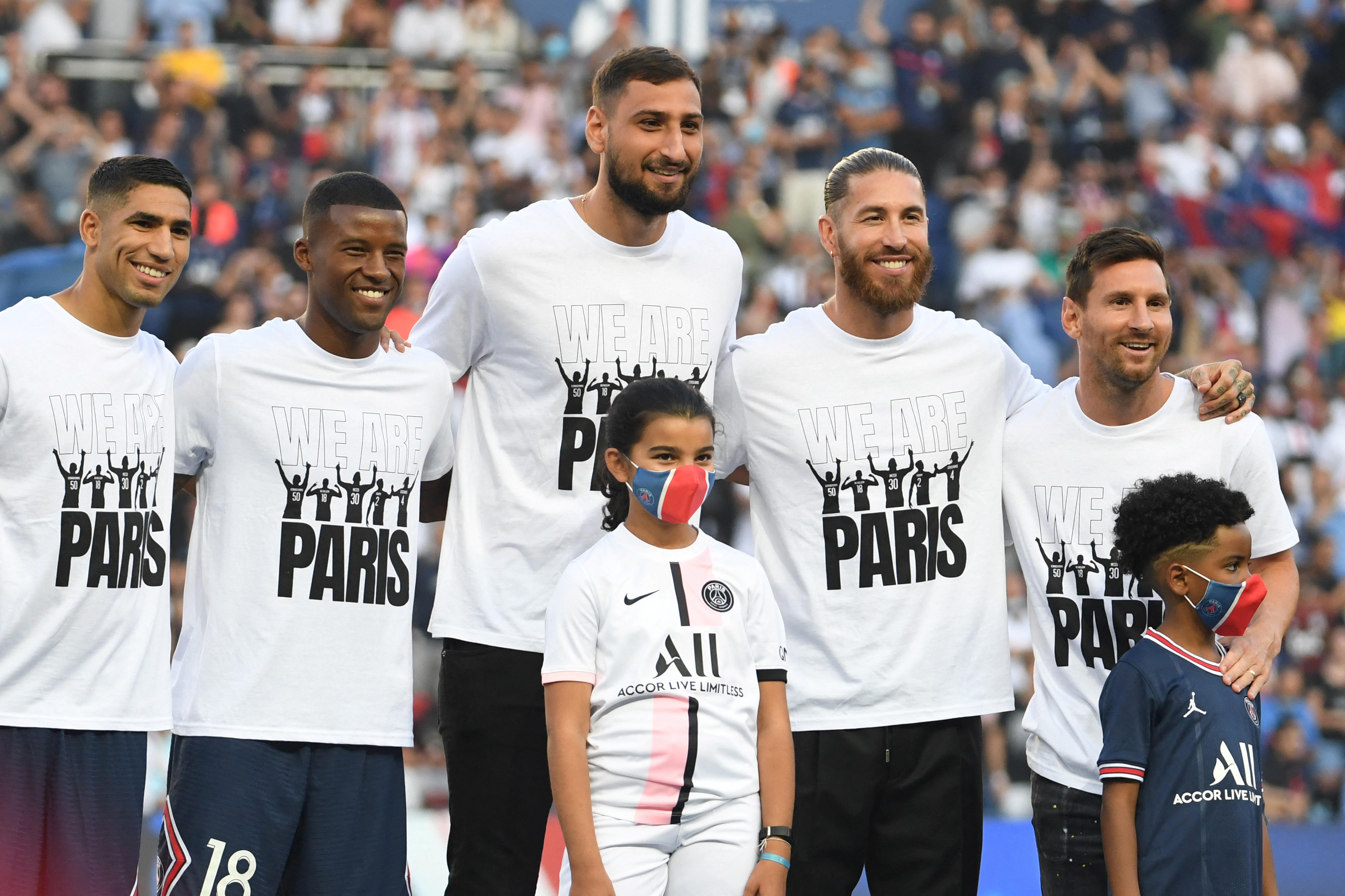 Messi, Donnarumma és Sergio Ramos bemutatkozott Párizsban