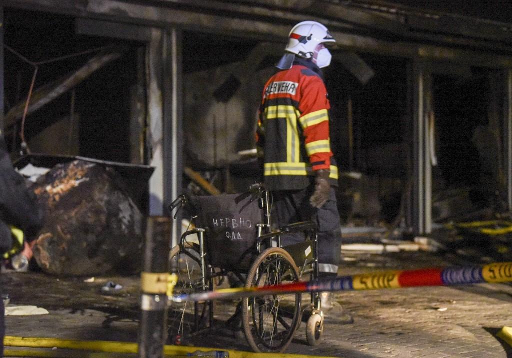 Leégett egy macedón covid-kórház, legalább tíz beteg meghalt