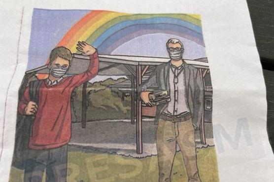 Bepanaszoltak egy szatmárnémeti tanárt, amiért szivárványt rajzolt a hatodikosoknak szánt üdvözlőlapra
