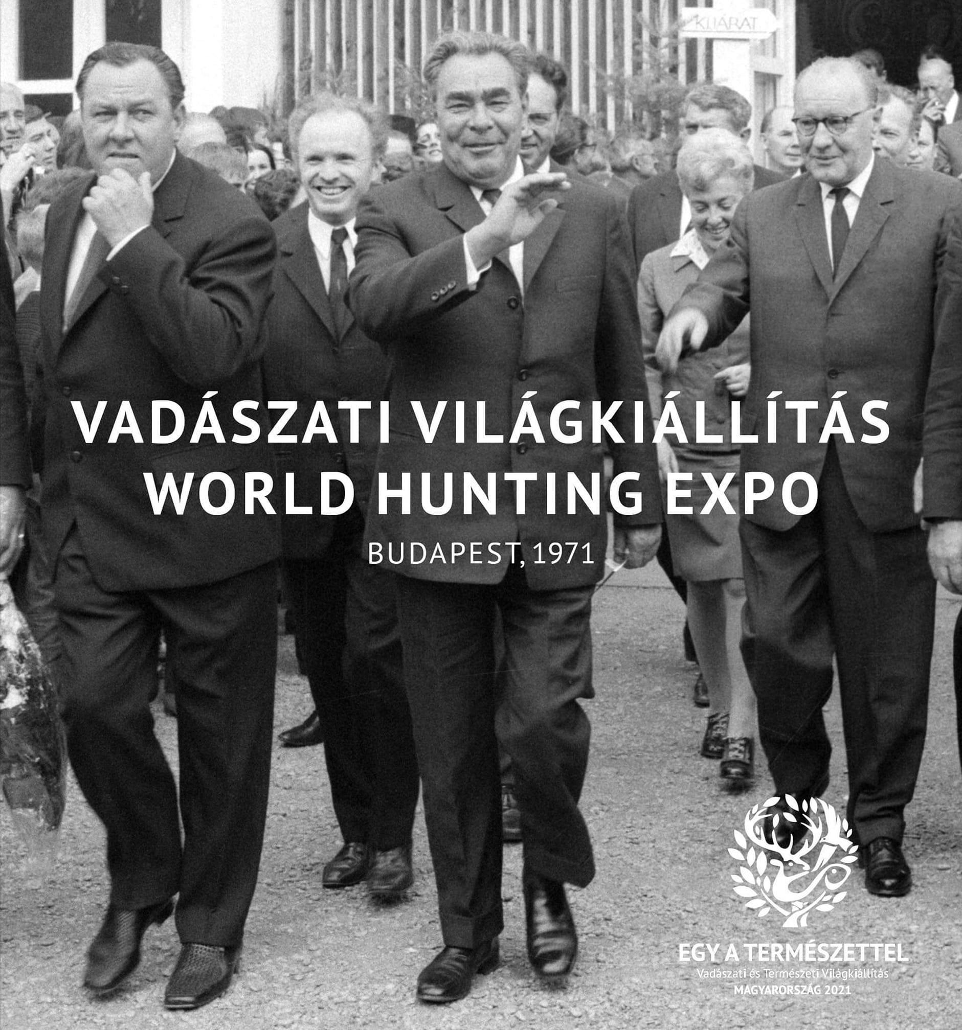 Bevállalják? Kádár-fotóval reklámozza a 71-es vadászati világkiállításról szóló, általa szerkesztett kötetet L. Simon László