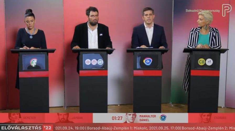 A szomszédos választókerület vitáján is úgy dobálták Tóth Csaba nevét, mint a forró krumplit