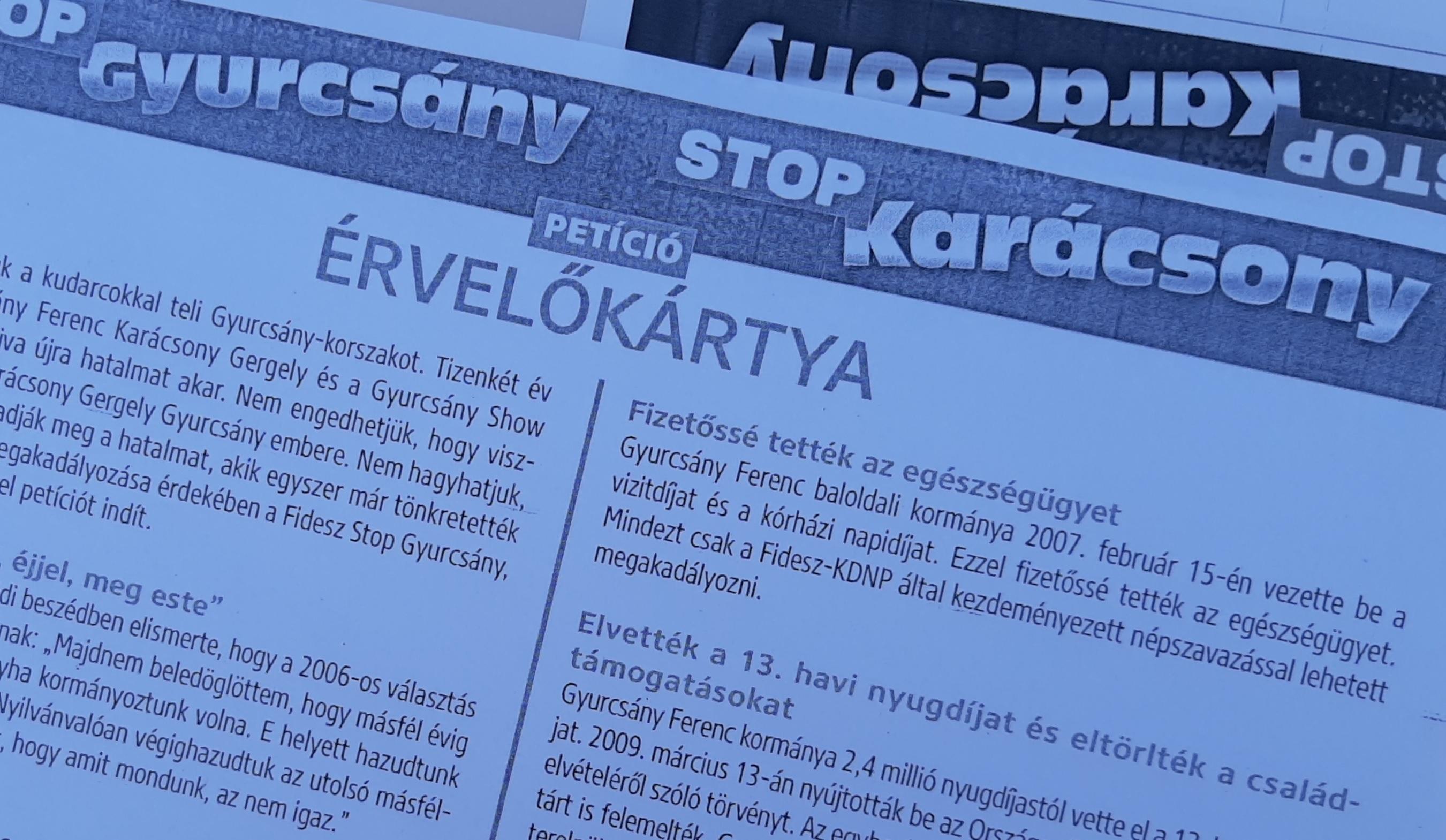 A fideszes aláírásgyűjtő érvelőkártyájáról sem derül ki, hogyan állítja meg a petíció az ellenzéket