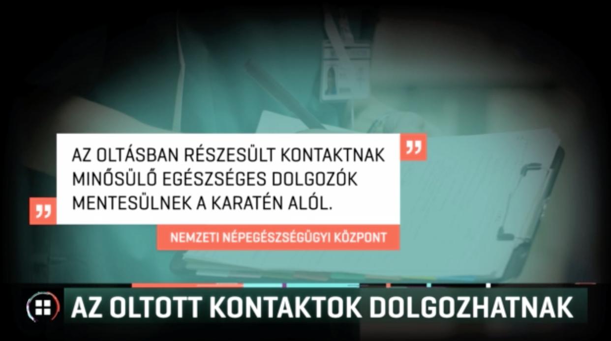 NNK: Beoltott kontaktszemélyeknek nem kell karanténba vonulniuk