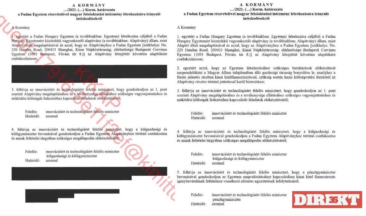A legkínosabb információkat takarta ki a Fudan-iratokból a kormány